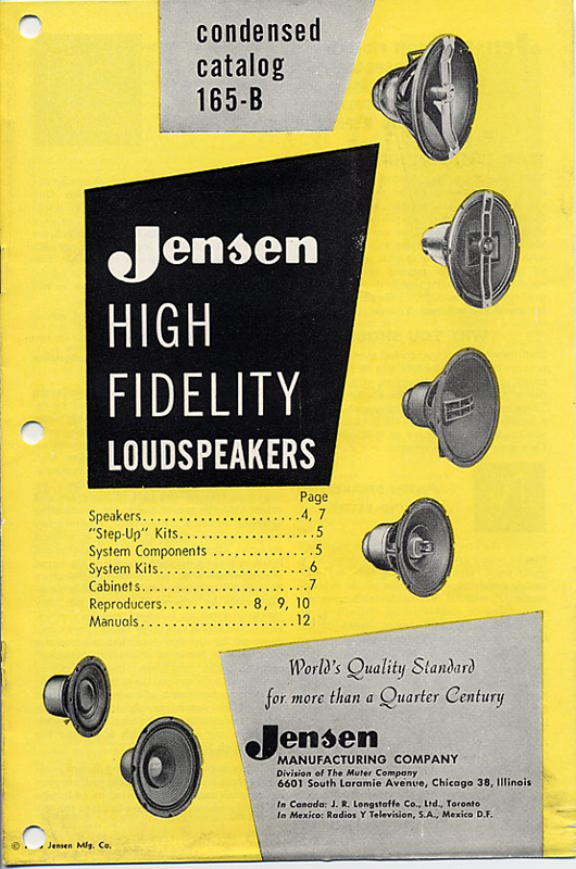 Jensen Advertisement Archives   Jensen Loudspeakers